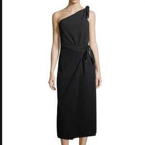 Dian Von Furstenberg One-Shoulder Knot Dress